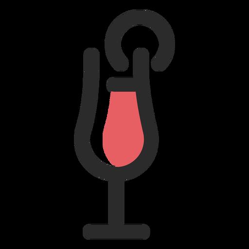 Ícone de traço colorido de coquetel bebida Transparent PNG