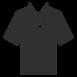 Icono de cuello henley camiseta plana