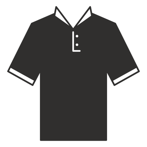 Collar henley t shirt flat icon Transparent PNG