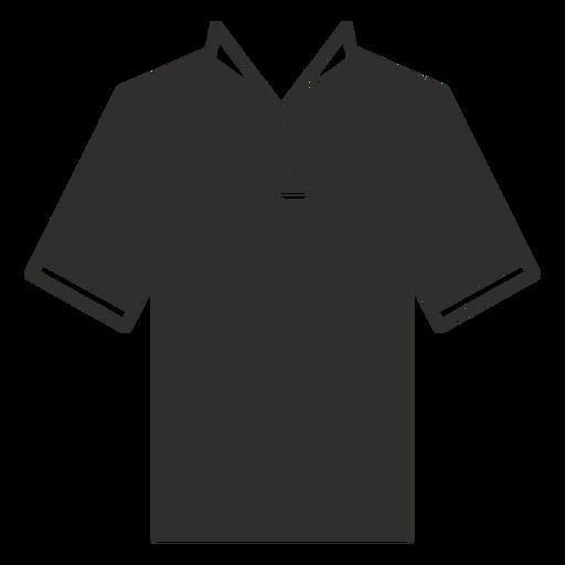 Collar henley t shirt flat icon