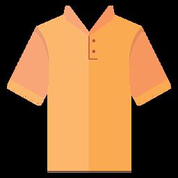 Icono de camiseta de cuello henley