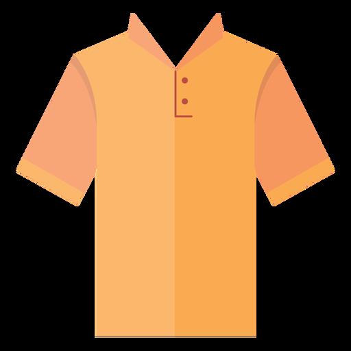 Collar henley t shirt icon