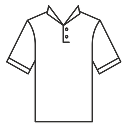 Collar henley t shirt icono de trazo