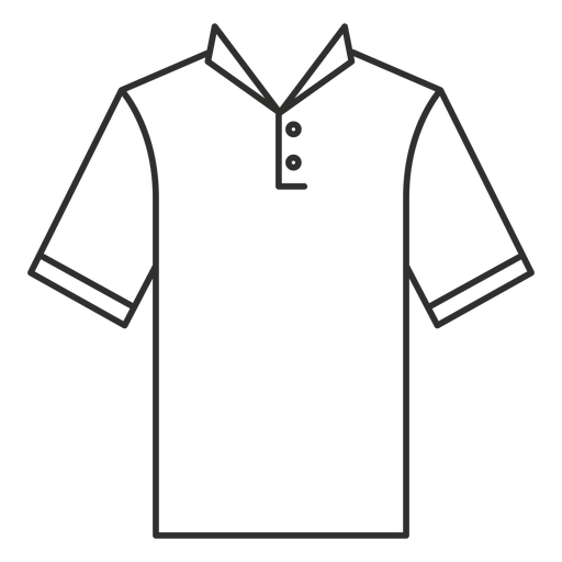 Collar henley t shirt stroke icon Transparent PNG