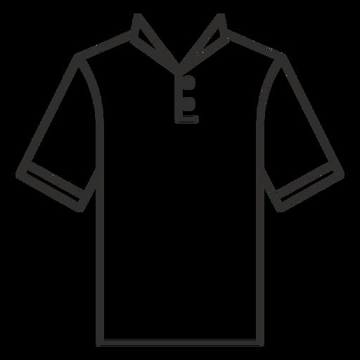 Collar henley t shirt stroke icon