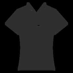 Cuello camiseta plana icono