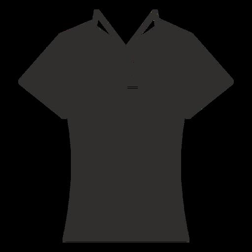 Cuello camiseta plana icono Transparent PNG