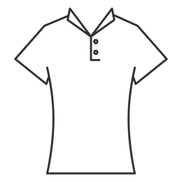 Collar t shirt stroke icon