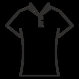 Ícone de traço de camisa de t de colarinho
