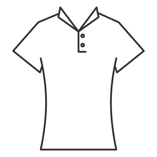 Collar t shirt stroke icon Transparent PNG