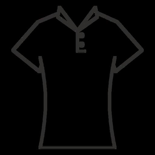Collar t shirt stroke icon