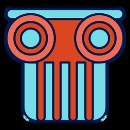Icono de la escuela capital de columna