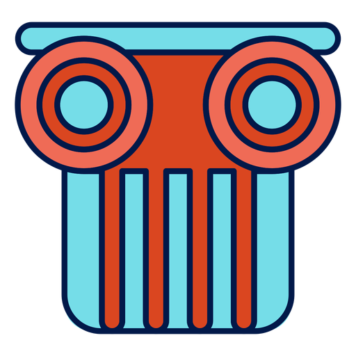 Column capital school icon Transparent PNG