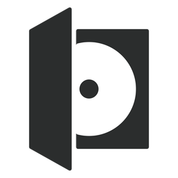 Compact disc case flat icon