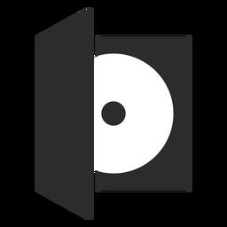Ícono plano de caja de disco compacto