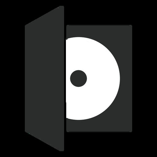 Ícone plana de caixa de disco compacto Transparent PNG
