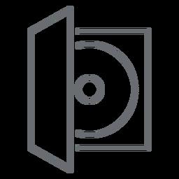 Ícone de traçado de caso de disco compacto