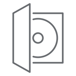 Icono de trazo de caja de disco compacto