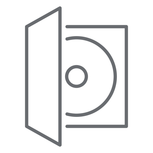 Compact disc case stroke icon Transparent PNG