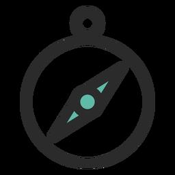 Brújula coloreada icono de trazo