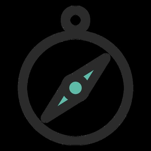 Brújula coloreada icono de trazo Transparent PNG
