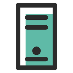 Computer case colored stroke icon