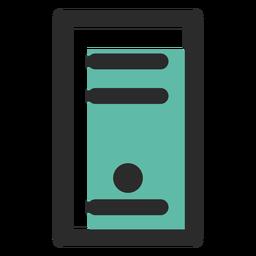 Ícone de traço colorido de caso de computador