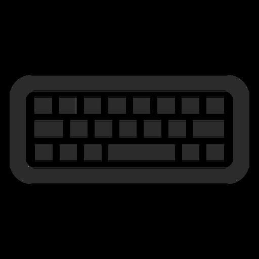 Icono de trazo de teclado de computadora Transparent PNG