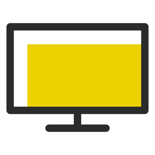 Computer monitor colored stroke icon Transparent PNG