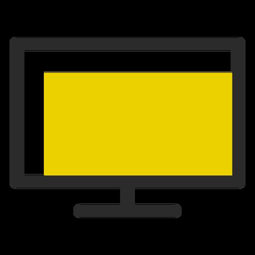 Icono de trazo coloreado de monitor de computadora Transparent PNG