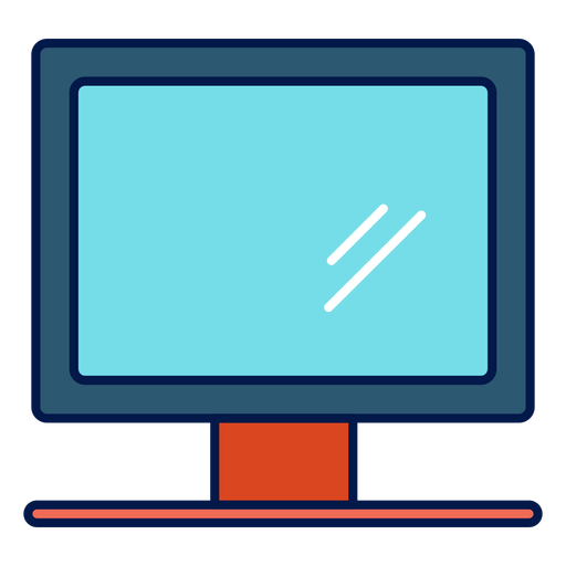 Computer monitor school icon Transparent PNG