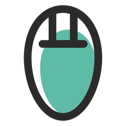 Computer mouse colored stroke icon