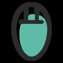 Icono de trazo coloreado de ratón de computadora