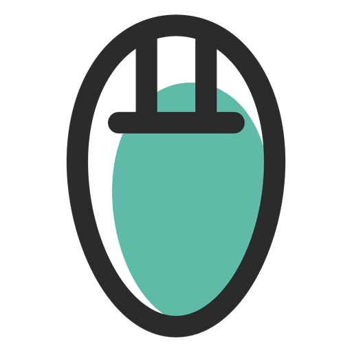 Icono de trazo coloreado de ratón de computadora Transparent PNG