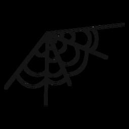 Dibujado a mano de telaraña de esquina