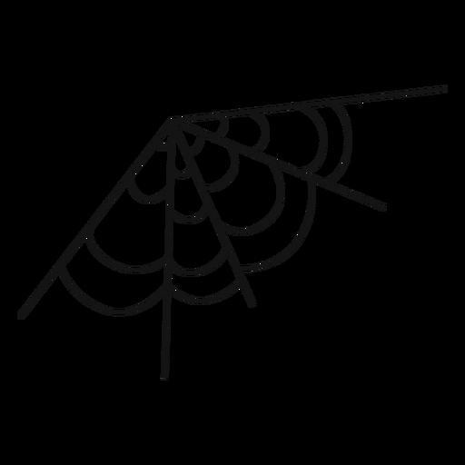 Dibujado a mano de telaraña de esquina Transparent PNG