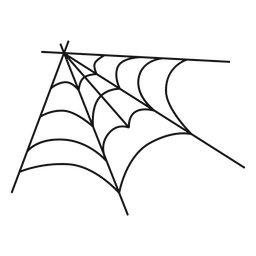 Corner spider web hand drawn