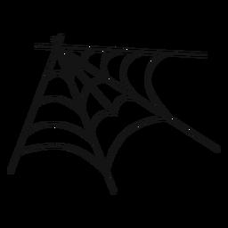 Mão de web de aranha de canto desenhada