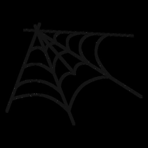 Corner spider web hand drawn - Transparent PNG & SVG vector