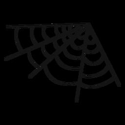 Esquina de tela de araña dibujada a mano