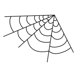 Mão de teia de aranha de canto desenhada