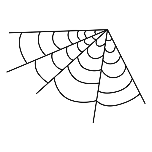Corner spiderweb hand drawn Transparent PNG