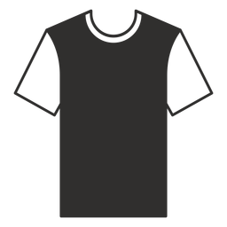 Crew neck t shirt flat icon