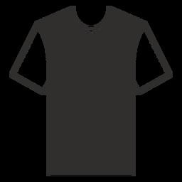 Ícone plana de gola camiseta