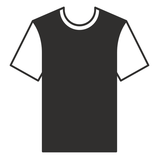 Crew neck t shirt flat icon Transparent PNG