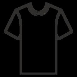 Ícone de traçado de camiseta de pescoço de tripulação