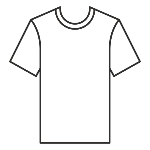 Crew neck t shirt stroke icon Transparent PNG