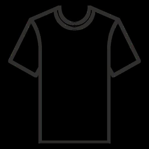 Ícone de traço de camiseta com gola redonda