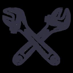 Logotipo de chaves ajustáveis cruzadas