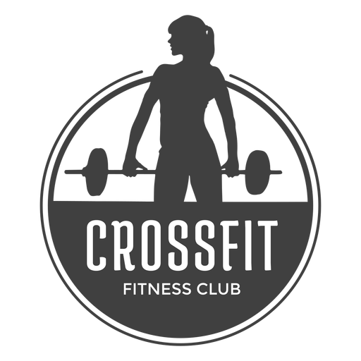 Crossfit fitness club logo Transparent PNG